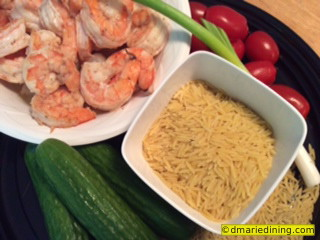 Orzo and Shrimp Salad 1
