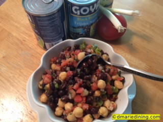 Black and White Bean Salad 4