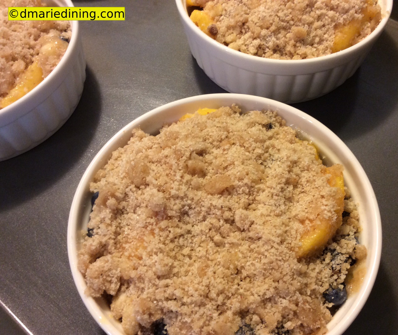 Peach Blueberry Crumble | dmarie-dining